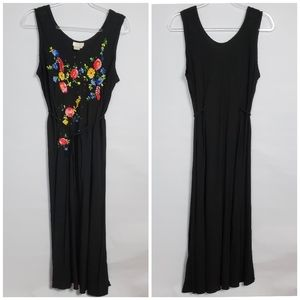 Soft Surroundings black embroidered dress size XL